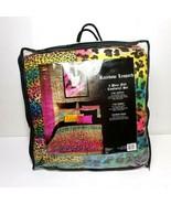 Veratex Street Revival FULL Size 4-Piece Rainbow Leopard Comforter Set New - $72.57