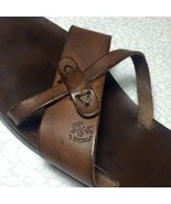 IL BISONTE Women's Cozy Flat Leather Slip-on Sandals EUR 37 US 6.5 - RARE! - $222.75