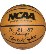 Bobby Knight signed NCAA Wilson Indoor/Outdoor Basketball 76 81 87 Champ... - $148.95