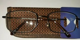 +2.50 Foster Grant Topher Lightweight Full Frame Brown Metal Spring Hing... - $5.76