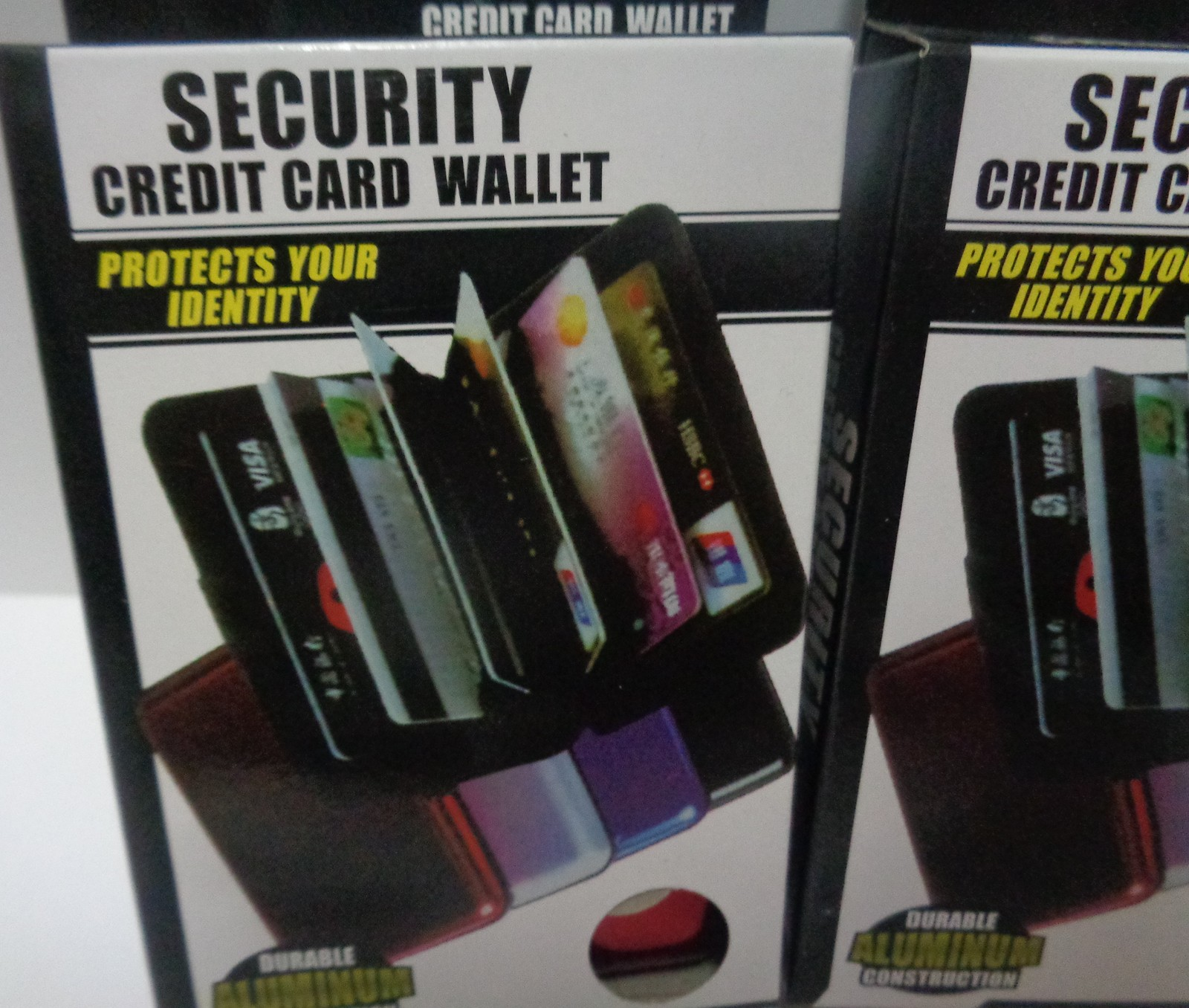 Security Credit Card Wallet Blocks RFID Scanning NIB Various Colors Aluminum
