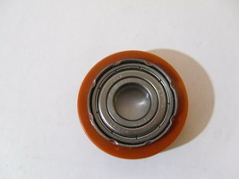 PLASTIC COATED CROWN OD GUIDE PULLEY BALL BEARING 17MMX54MMX12MM - $10.00
