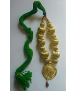 panyabí Folk Cultural Bhangra Gidha Kaintha Colgante en verde ribete col... - $16.65