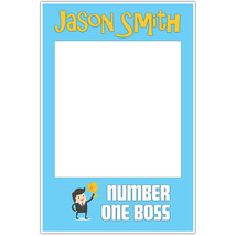 Number One Boss Day Selfie Frame Social Media Photo Prop Poster - $16.34+