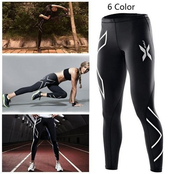 2017 Hot Sale Women's Running Compression Tights Pants Women Men Elastic Clothes for sale  USA