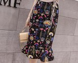 Elegant printed fishtail large size lady skirt thumb155 crop