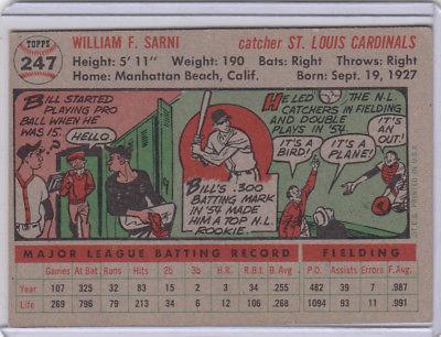 1956 Topps 247 Bill Sarni Not Graded 03