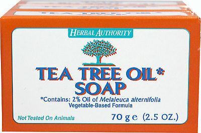 TEA TREE OIL BODY HAND 100% NATURAL Melaleuca ANTIFUNGAL HERBAL PURE SOAP 1 BAR image 2