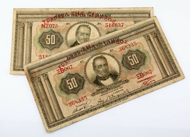 1927 Grecia 50 Drachmai Billetes Lot Of 2 (Buen Estado) P# 97a - $59.52