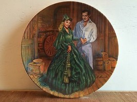 "Gone With the Wind collector's plate ""Scarlett's Green Dress"" Knowles 19... - $4.99"