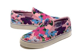 Nike TOKI PInk Blue Aloha Floral Thick Canvas Slip-on Shoes NEW Wms NWOT... - $59.99
