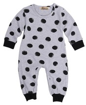 New Cute Hot Newborn Baby Boy Girl Infant Warm Cotton Outfit Jumpsuit Ro... - $9.89