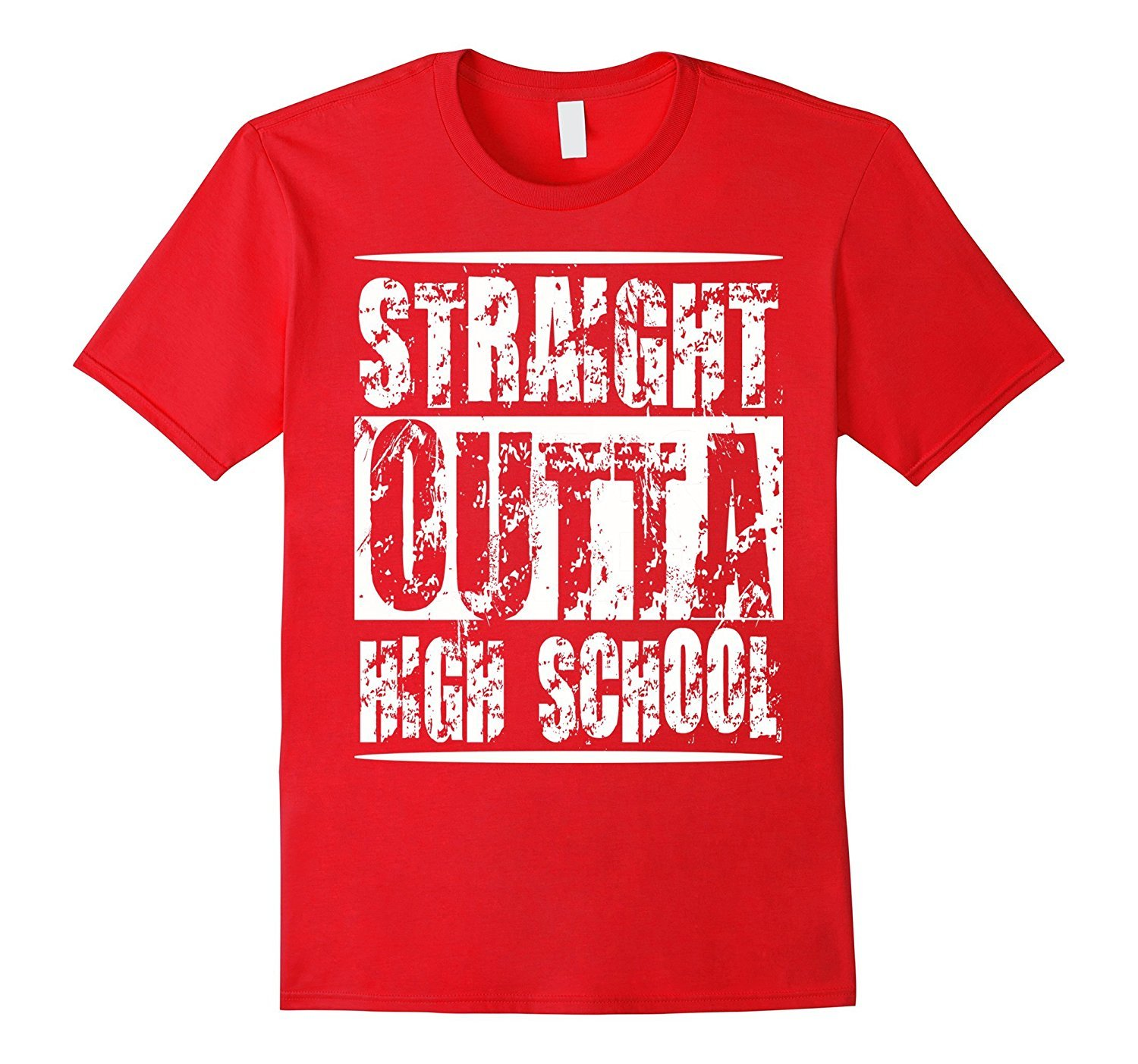 New Tee Straight Out Of High School Funny Graduation