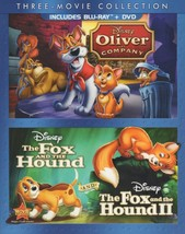 Disney 3 Movie Collection: Oliver & Company, The Fox & Hound 1 & 2 [Blu-Ray/DVD]
