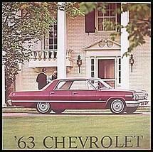 1963 Chevrolet Prestige Brochure Impala SS Bel Air - $14.55