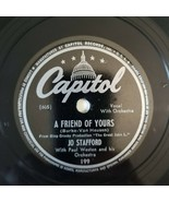 Jo Stafford - A FRIEND OF YOURS / ON THE SUNNY SIDE OF  - Capitol - Jazz... - $15.75