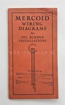 1941 antique MERCOID WIRING DIAGRAMS for OIL BURNER INSTALLATION illus m... - $47.50