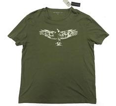 NWT John Varvatos Olive Short Sleeve Graphic Shirt Men's Size XL 100% Co... - $1.877,50 MXN
