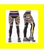 VIKINGS Leggings - #28 Women Football Fan Gear - NFL Minnesota Viking Wo... - $22.99