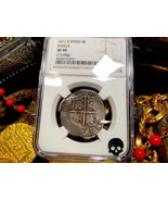 "SPAIN 4 REALES 1611 ""FULL DATE"" NGC 40 PIRATE GOLD COINS TREASURE DOUBLO... - $1,195.00"