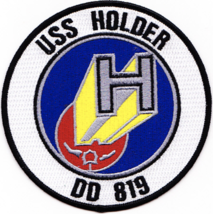 "4.5"" NAVY USS DD-819 HOLDER EMBROIDERED PATCH - $23.74"