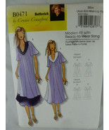 Butterick 0471 Connie Crawford Pattern Size all sizes Xsm to Xlg Dress U... - $6.92