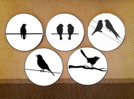 CraftedIndia Ceramic Black & White Birds Design Wall Plates - $193.00