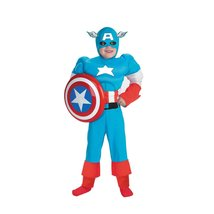 Boy's Captain America Muscle Deluxe Costume - $30.95