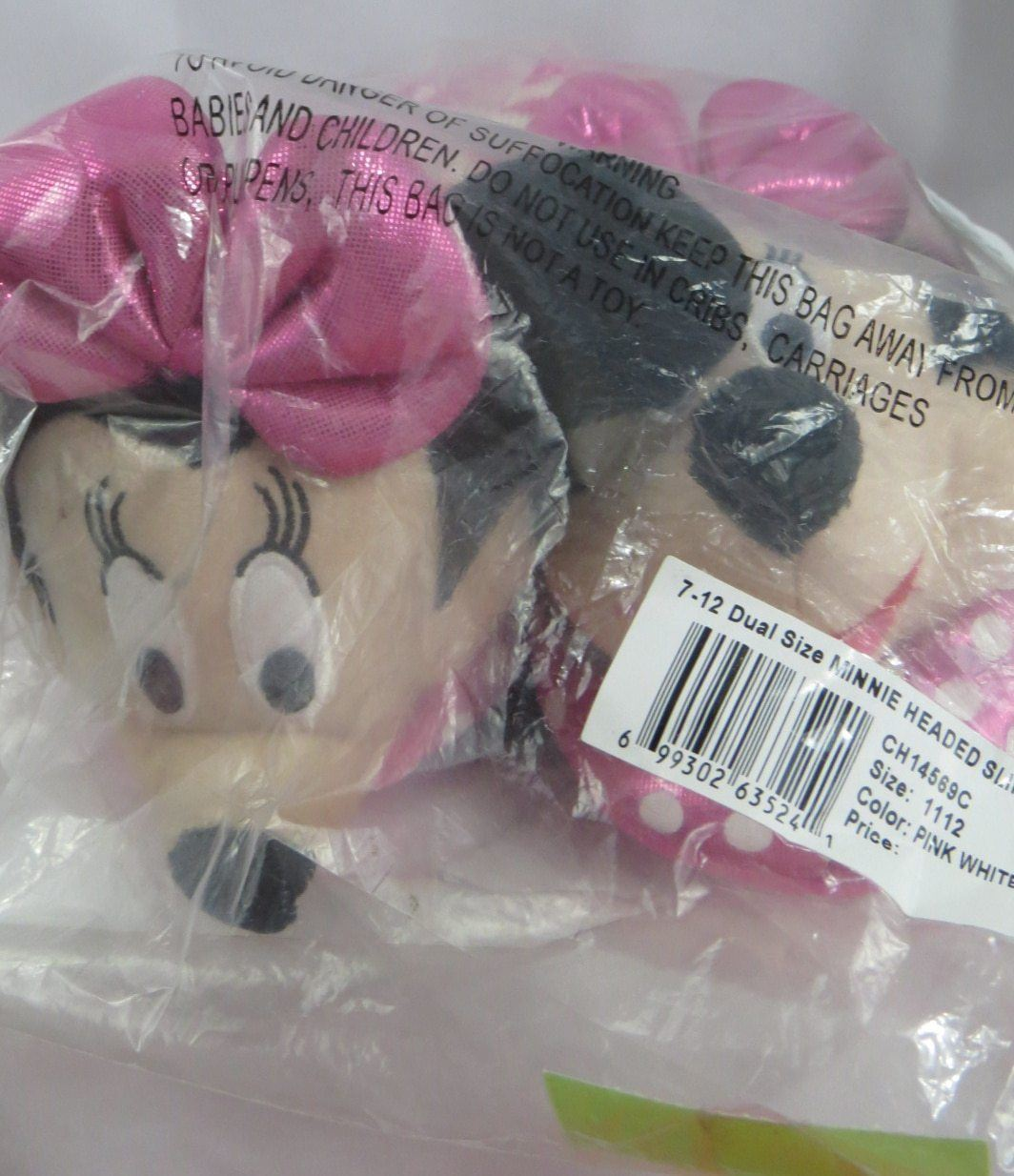 Toddler Girls Slippers Disney Minnie Head Slipper (Toddler/Little Kid)
