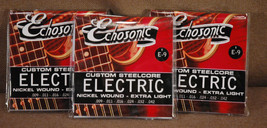 Echosonic Electric Guitar Strings .009 - .042 Nickel wound 3 Sets - $11.29
