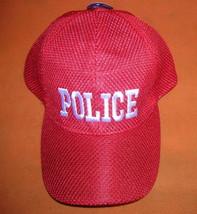 "QDDFMY ""Police""  Baseball Cap - Red  OSFM UPC:710534486880 - $12.87"