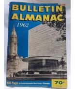 1962 Philadelphia Bulletin Almanac 1962 Vintage Advertising LocaL History  - $11.84