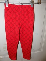 Disney Minnie Mouse Bow Print Red Leggings Size 5/6 Girl's NWOT - $16.02
