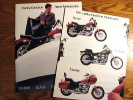 1985 Harley Davidson Brochure Lot (2) Electra Super Glide Sportster Police XLX61 - $14.83