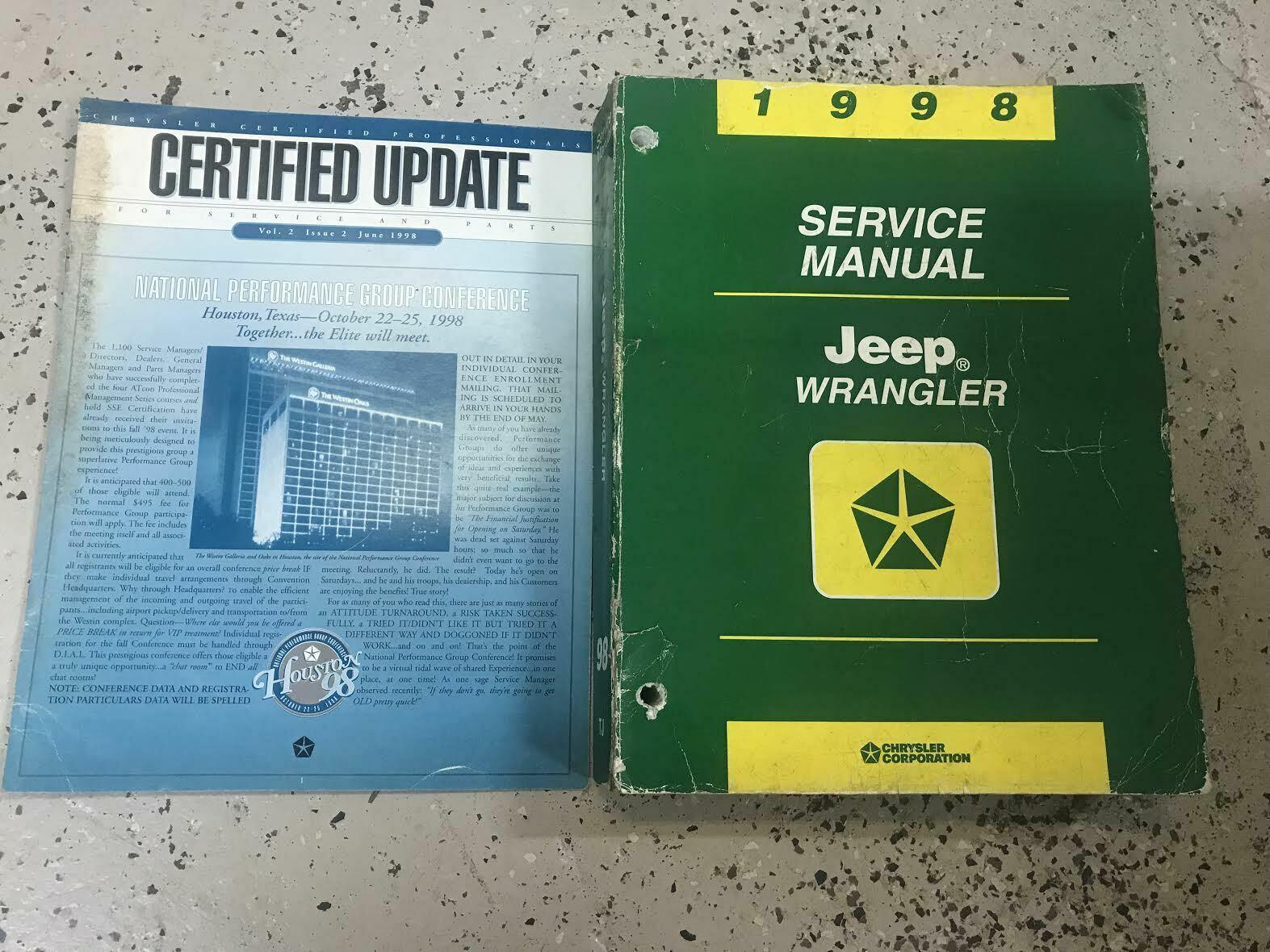 1998 JEEP WRANGLER Service Workshop Shop Repair Manual Set W Extra OEM image 6
