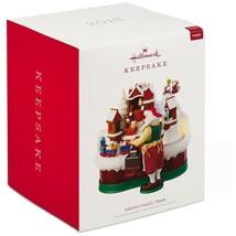 2018 Hallmark Santa's Magic Train Christmas Ornament Musical Light Motion - $72.90