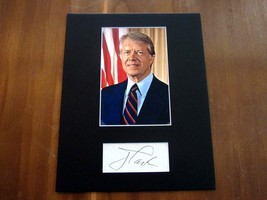 JIMMY CARTER 39TH PRESIDENT OF THE USA SIGNED AUTO VINTAGE MATTED CUT TS... - $148.49