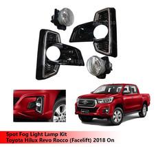 Spot Fog Light Lamp Kit For Toyota Hilux Revo Rocco (Facelift) 2018 ON - $139.32