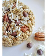 Coconut Chocolate Chip Pecan Oatmeal 12 LG Size Awesome Oat Cookies  - $48.99