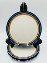Craftstone Blue Hill J5001 By Mikasa Blue Rim Set Of 3 Salad Plates - $25.69