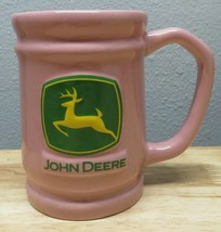 John Deere Tractors Mug PINK Coffee Cup Ceramic Tractor Glass Russ Berri... - $9.89