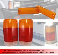 Front Bumper Light Lens + Tail Light Lens For Mazda B2000 B2200 B2600 1985-1998 - $36.10