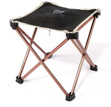 Aluminium Camping Hiking Foldable Chair Folding Fishing Mini Seat Outdoo... - $16.50