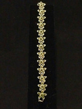 Crystal Bracelet Swarvoski Quality,Gold plated - $35.00