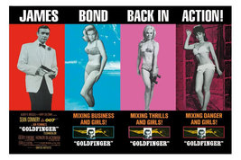 GOLDFINGER Poster 36x24 inches JAMES BOND 007 RARE Pussy Galore 61x90 cm - $19.99