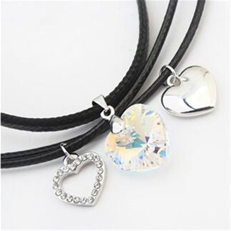 SHDEDE Fashion Jewelry Necklaces Pendants Vintage Heart Crystal from Swarovski H image 3