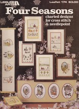 Four Seasons, Leisure Arts Cross Stitch Patterns 174 Bluebirds Rainbows ... - $3.95