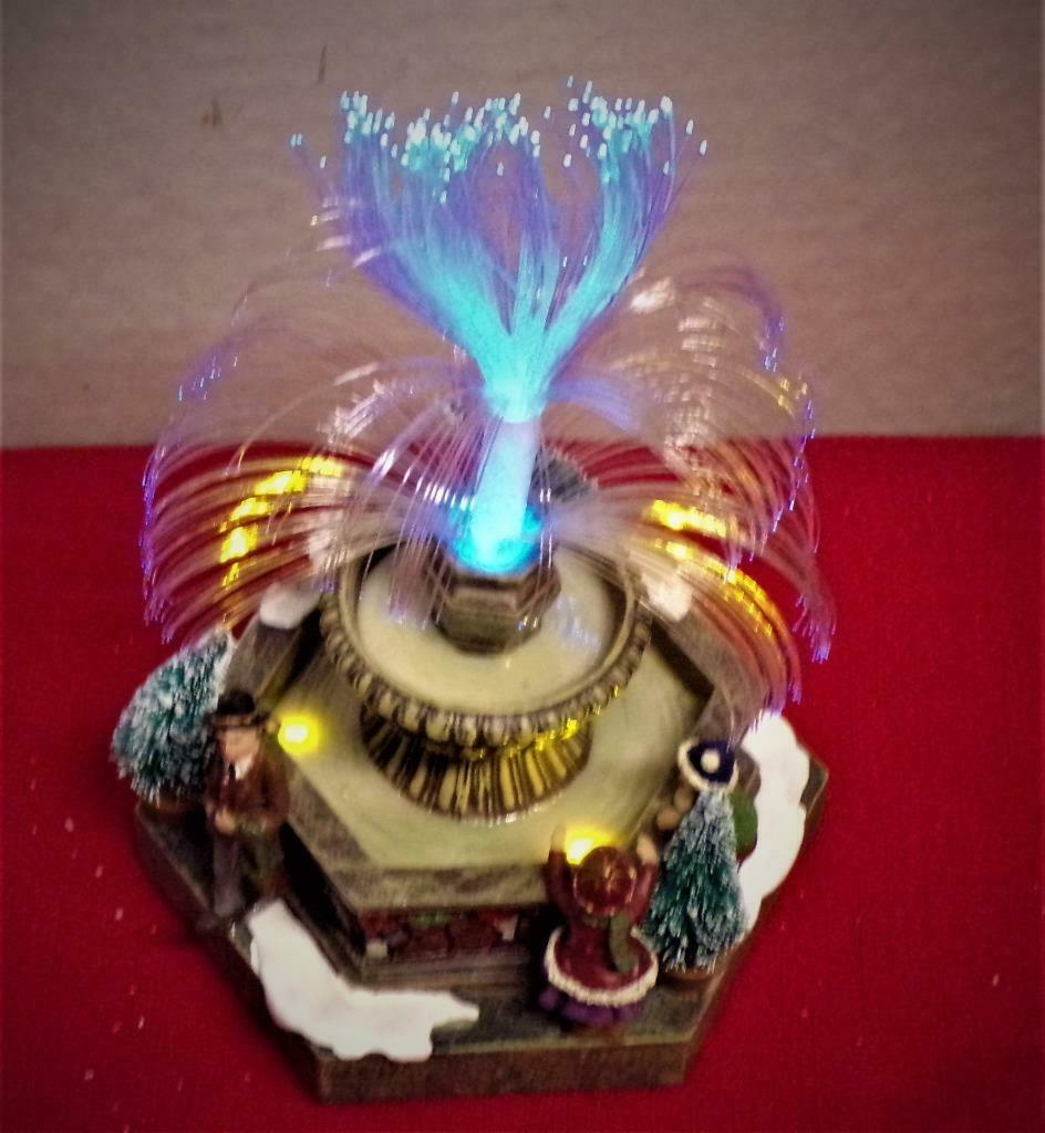 Primary image for Fiber Optic Fountain St.Nicholas Square Hand Painted-MINT IN BOX