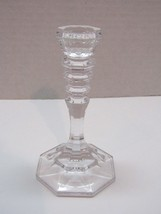 """Cut Glass 5"""" Small Candlestick Holder Crystal Look - $13.86"""