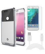 Combo Pack 1 SP Glass,1 White USB C Cable, 1 Shockproof Case for Google ... - $24.70